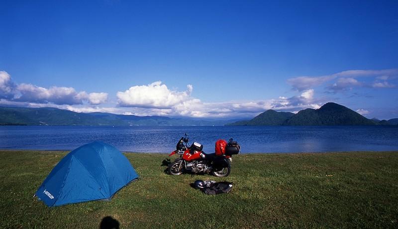 北海道ツーリング 洞爺湖キャンプ場 BMW R1100GS
